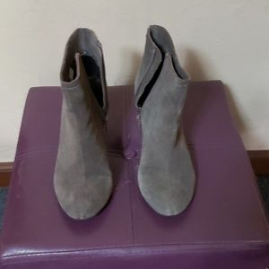Chinese Laundry taupe wedge bootie
